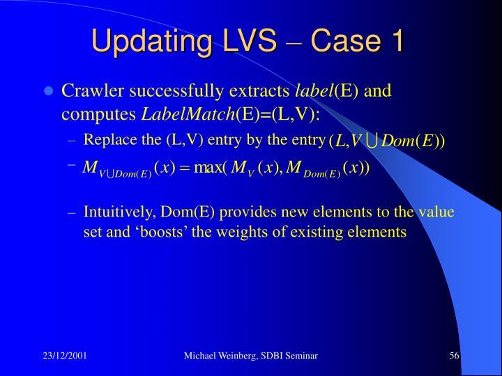 Updating LVS