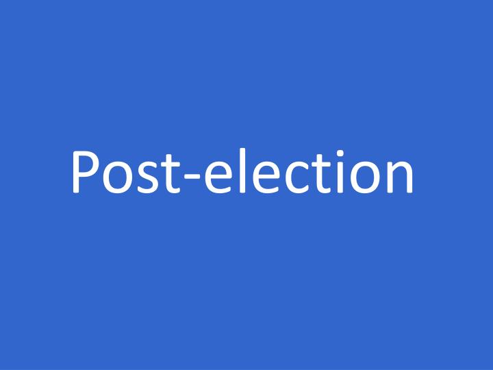 Post-election