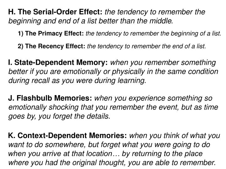 H. The Serial-Order Effect: