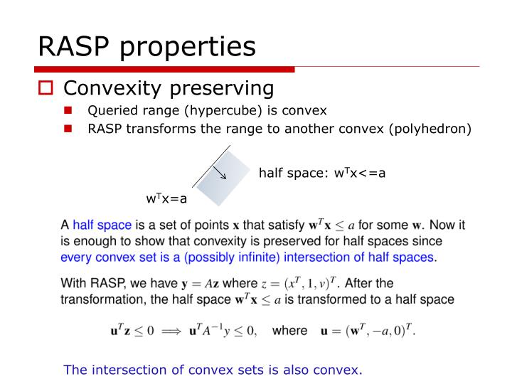 RASP properties
