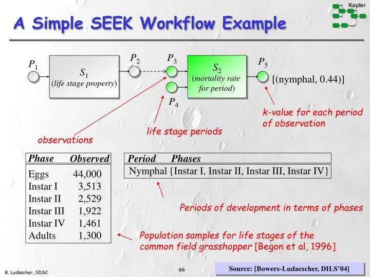 A Simple SEEK Workflow Example