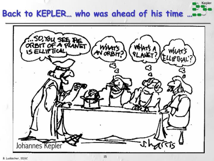 Back to KEPLER…