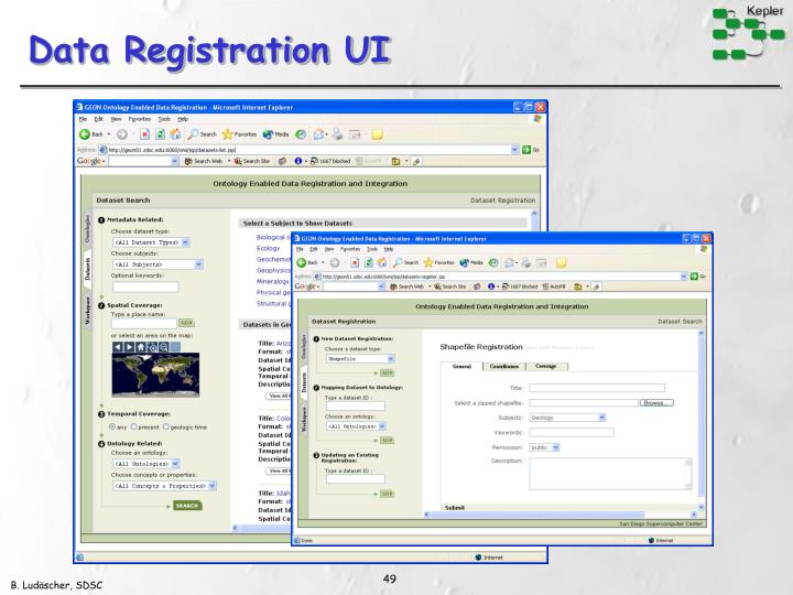 Data Registration UI