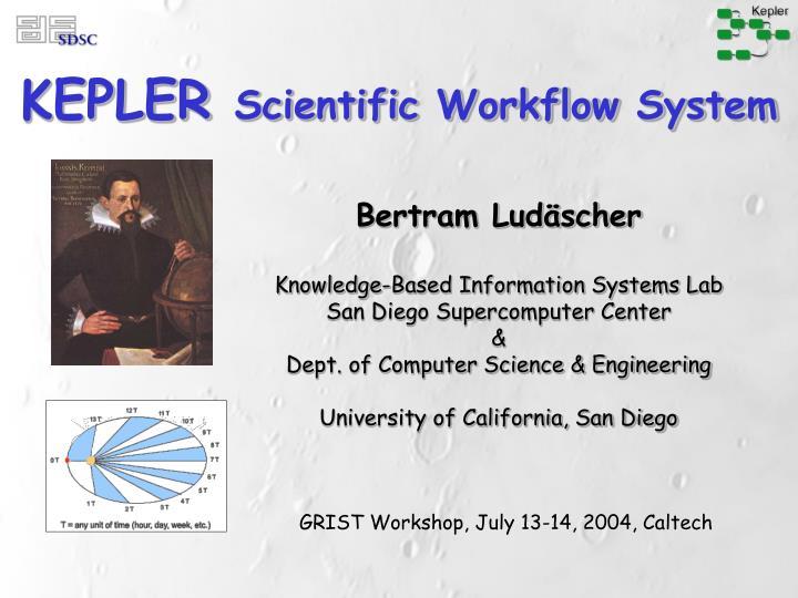Kepler scientific workflow system