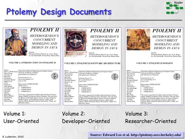 Ptolemy Design Documents