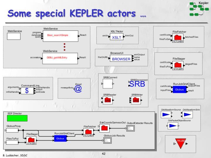 Some special KEPLER actors …