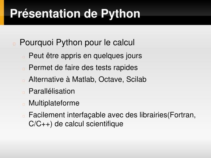 Présentation de Python