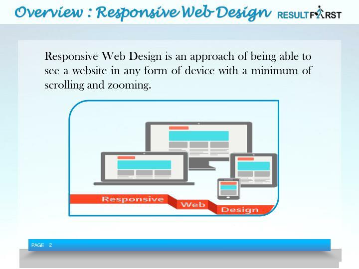 Overview responsive web design