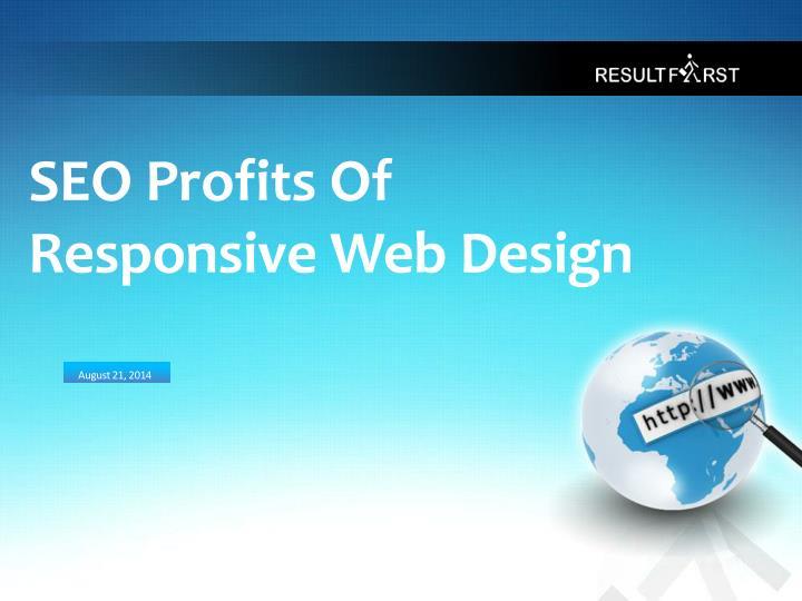 Seo profits of responsive web design
