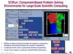 scirun component based problem solving environments for large scale scientific computing