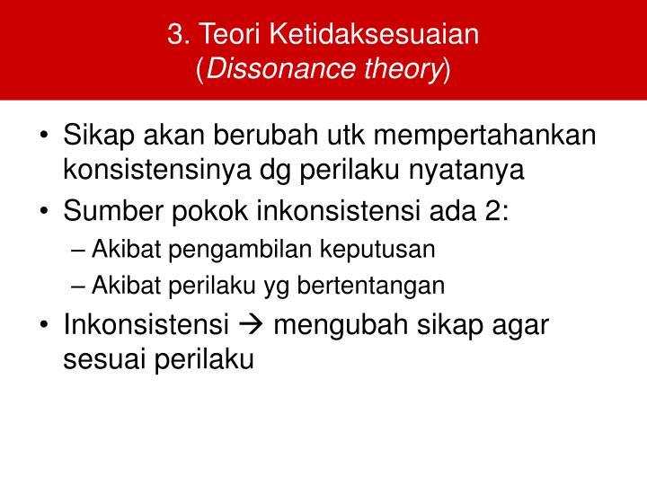 3. Teori Ketidaksesuaian