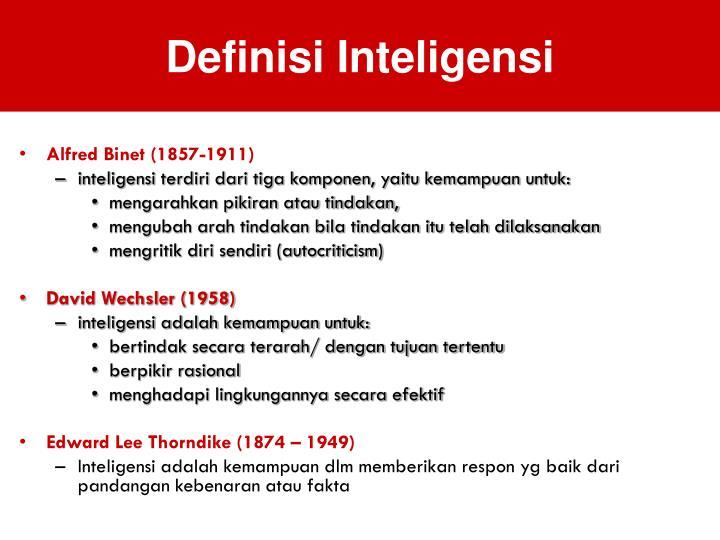 Definisi Inteligensi