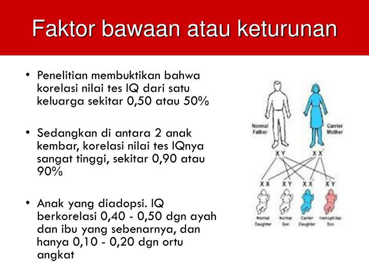Faktor bawaan atau keturunan