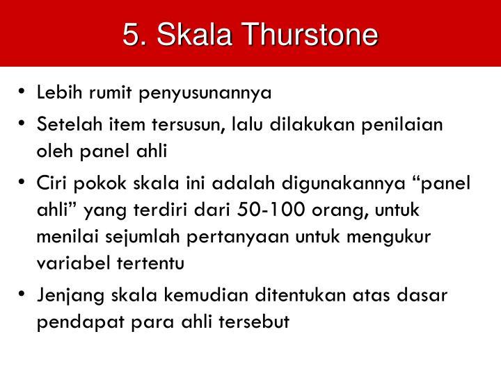 5. Skala Thurstone