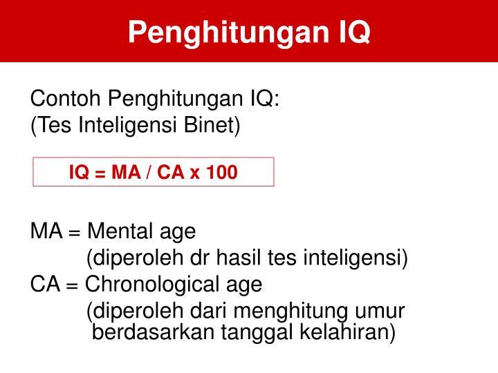 Penghitungan IQ