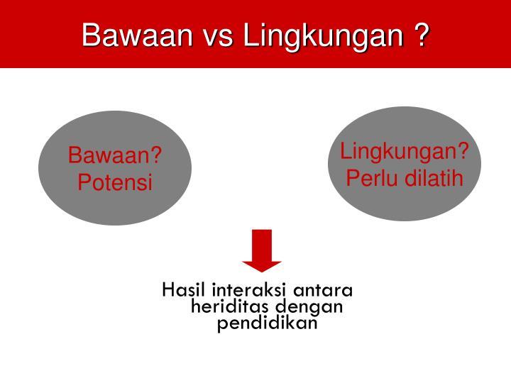 Bawaan vs Lingkungan ?
