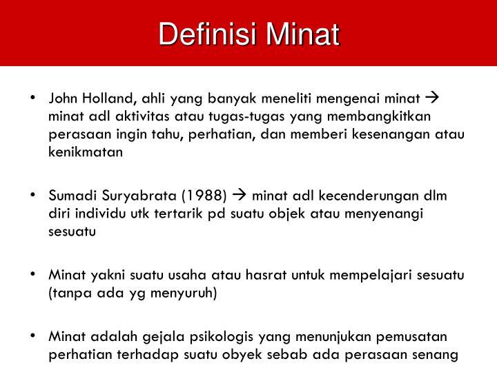 Definisi Minat