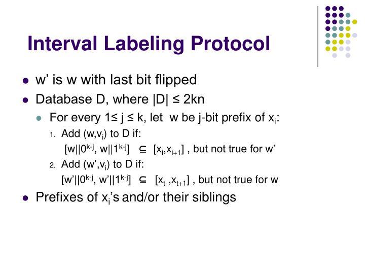 Interval Labeling Protocol