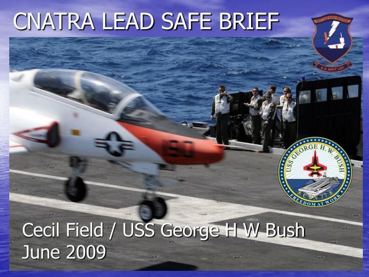 Cnatra lead safe brief