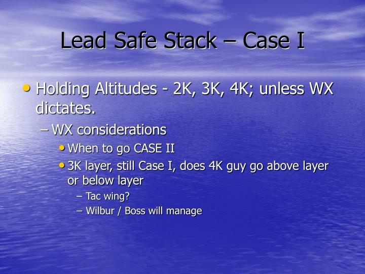 Lead Safe Stack – Case I