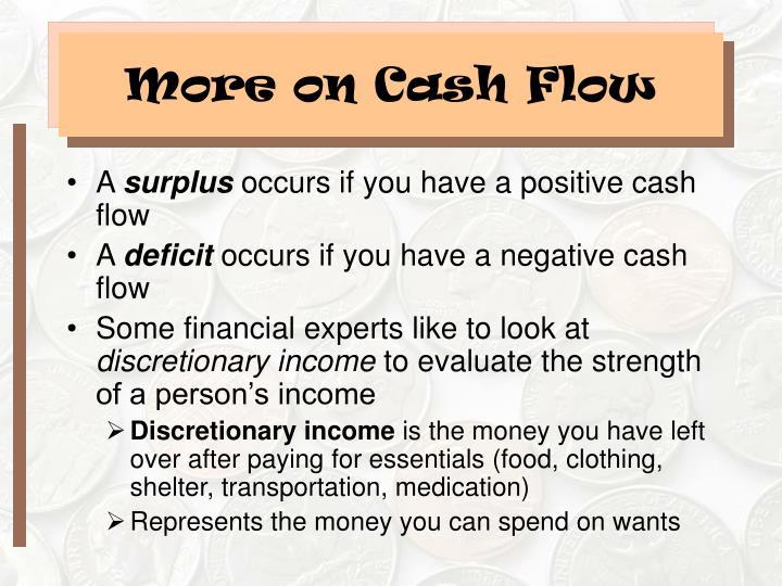 More on Cash Flow
