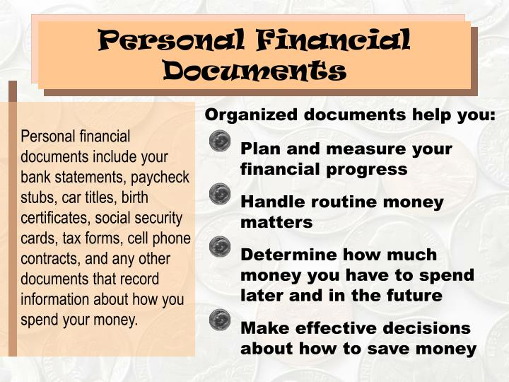 Personal Financial Documents