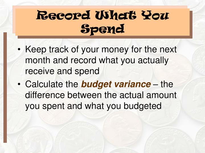 Record What You Spend