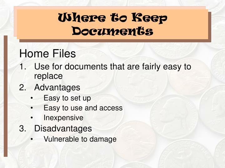 Where to Keep Documents