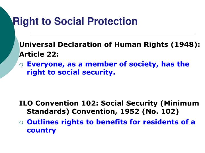 Right to Social Protection