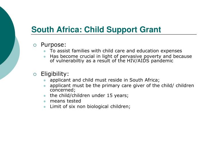 South Africa: Child Support Grant