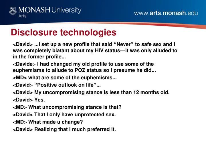 Disclosure technologies