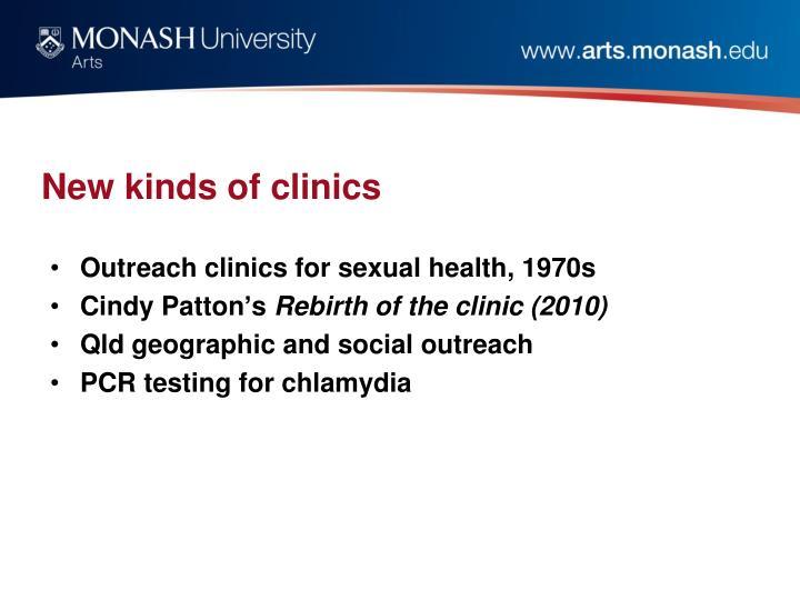 New kinds of clinics