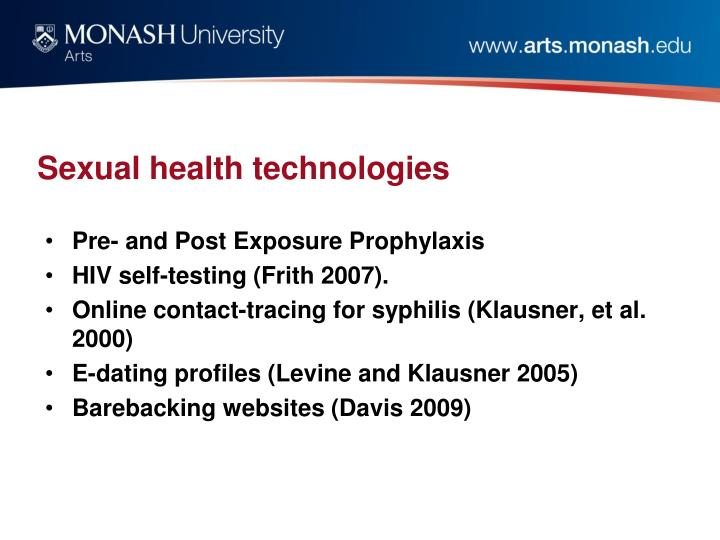 Sexual health technologies