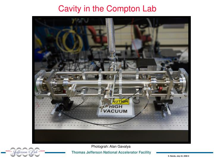 Cavity in the Compton Lab