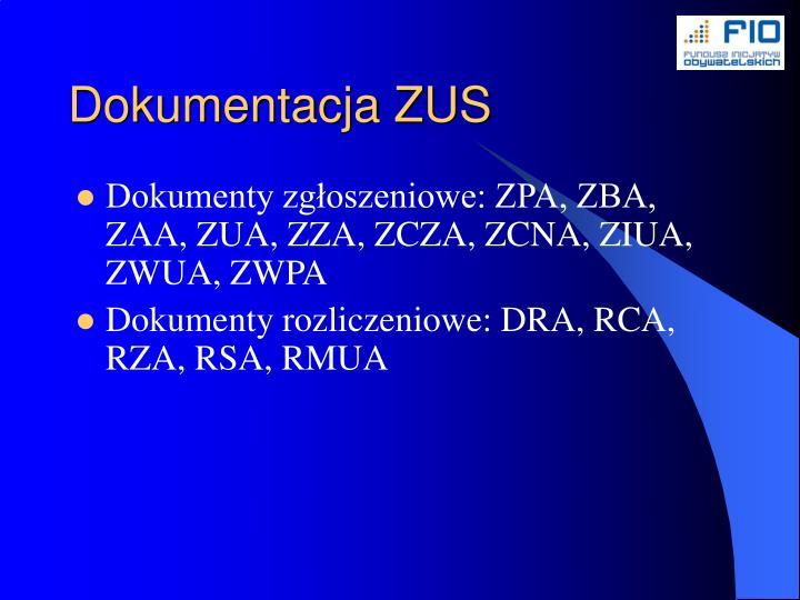 Dokumentacja ZUS