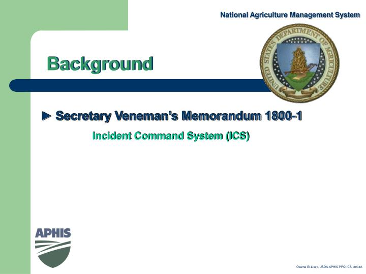 National Agriculture Management System