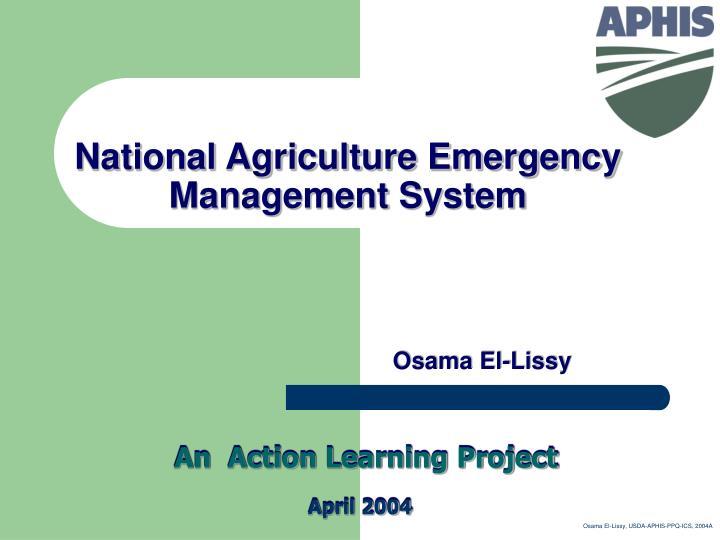 national agriculture emergency management system n.