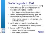 bluffer s guide to oai