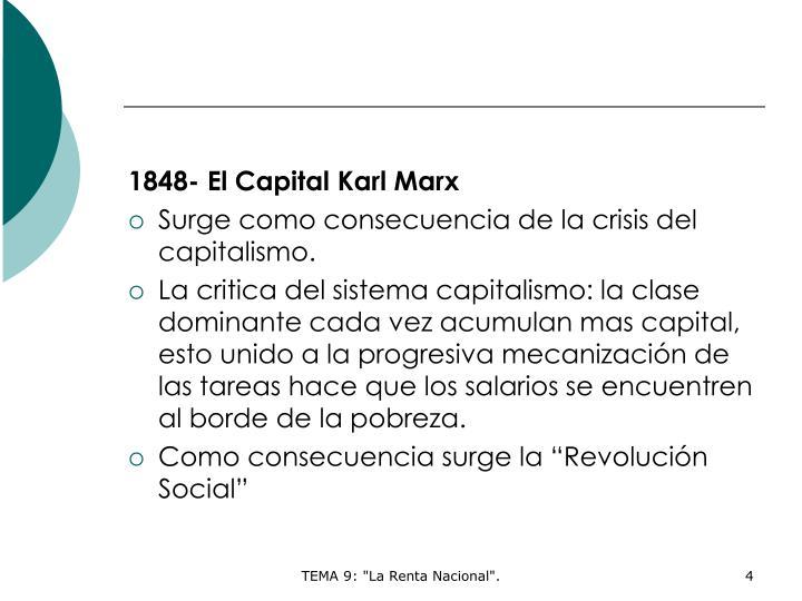 1848- El Capital Karl Marx