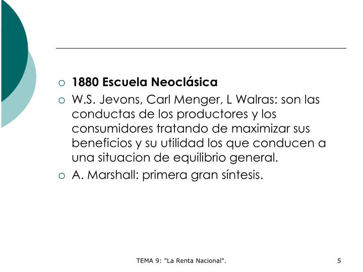 1880 Escuela Neoclásica