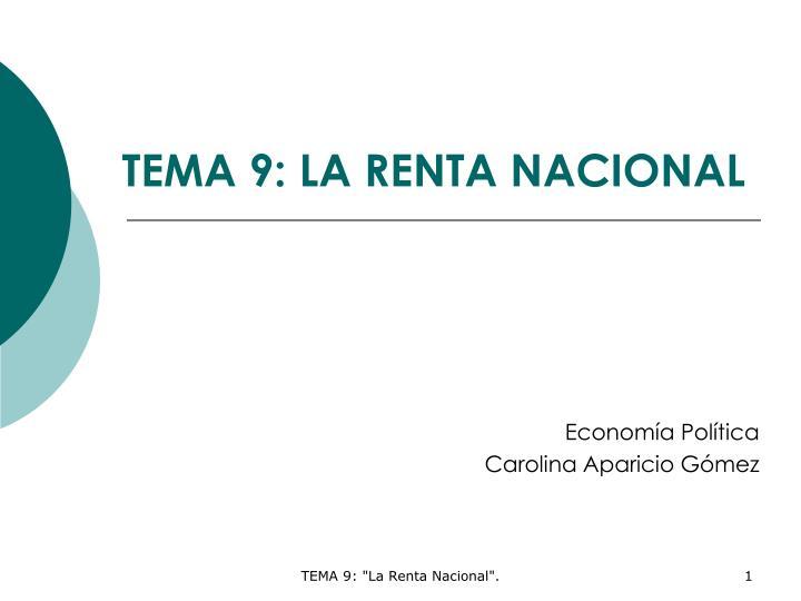 Tema 9 la renta nacional
