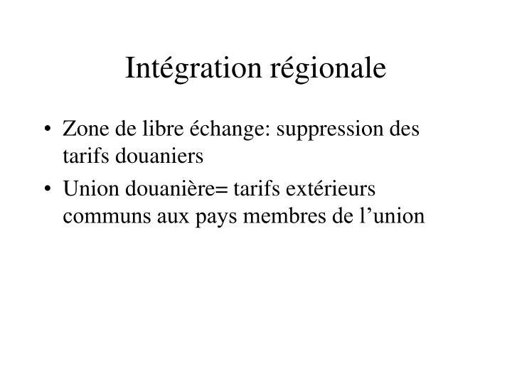 Intégration régionale