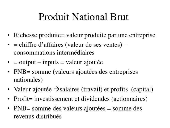 Produit national brut