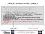 existing oai pmh based approaches conventions1