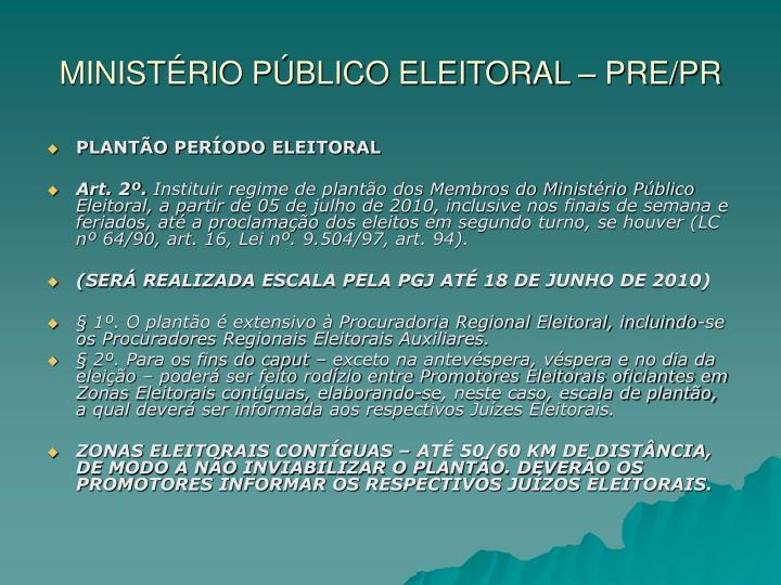 Minist rio p blico eleitoral pre pr1