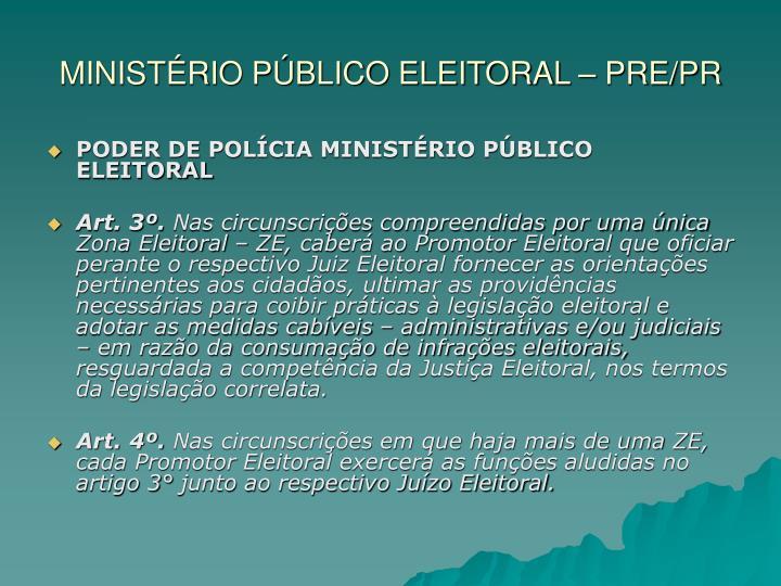 Minist rio p blico eleitoral pre pr2