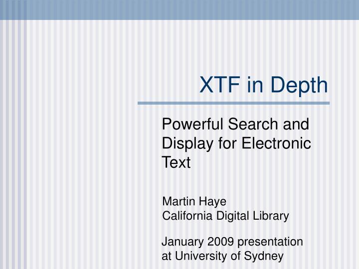 xtf in depth n.