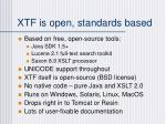 xtf is open standards based