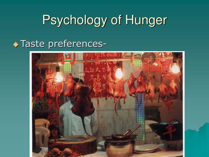 Psychology of Hunger