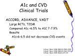 a1c and cvd clinical trials